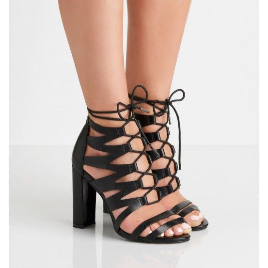 Forever New - Foxy Caged Ghillie Heels