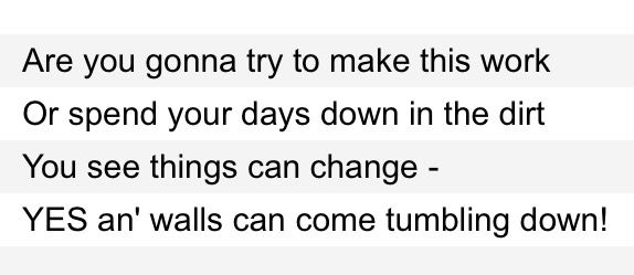 Come Tumbling Down Lyrics