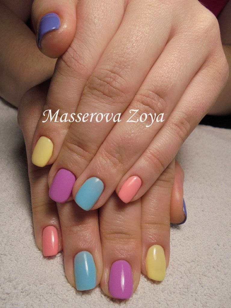 Classy Chic Nail Art Design For Summer Pastel Gelnails Nailart