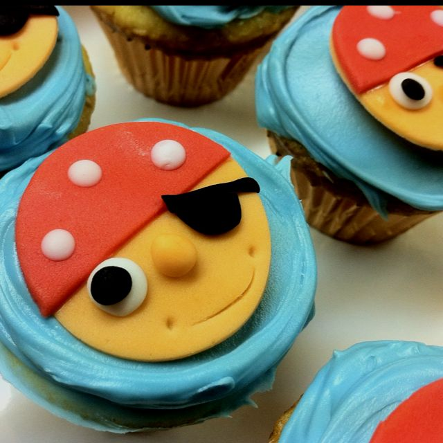 Pirate cupcakes for my little pirate maties
