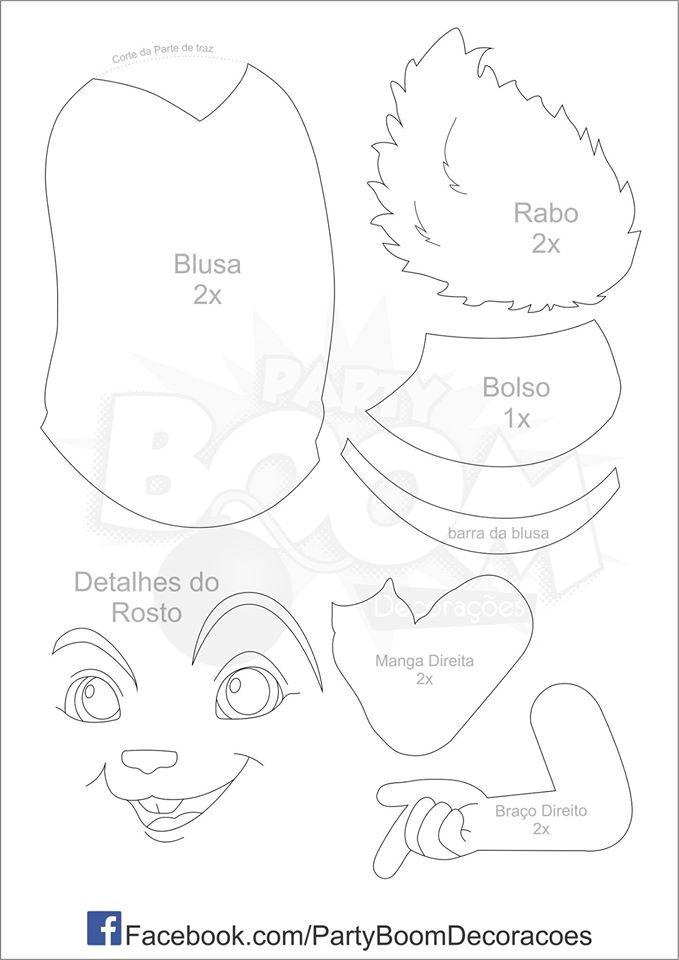 Boneco Alvin E Os Esquilos Com Molde Com Imagens Alvin E Os