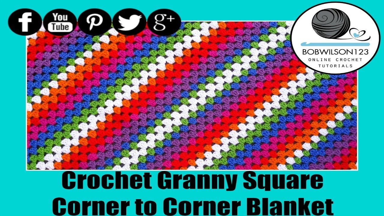 Square corner to corner afghan granny style crochet pinterest learn how to make a granny afghan into a rectangle this is for twin size afghans i show you how to get started so that your afghan will grow properly dt1010fo