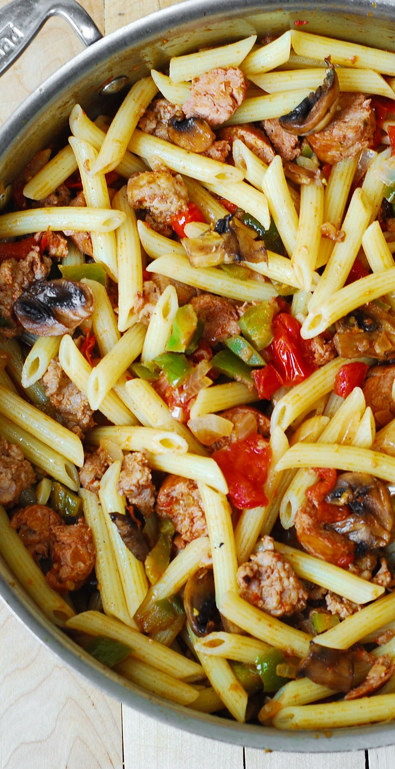 Italian Sausage Pasta with Vegetables. Italian sausage is ...