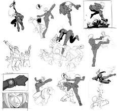 Fight Scene Drawing Sketches Cool Artwork Drawing People