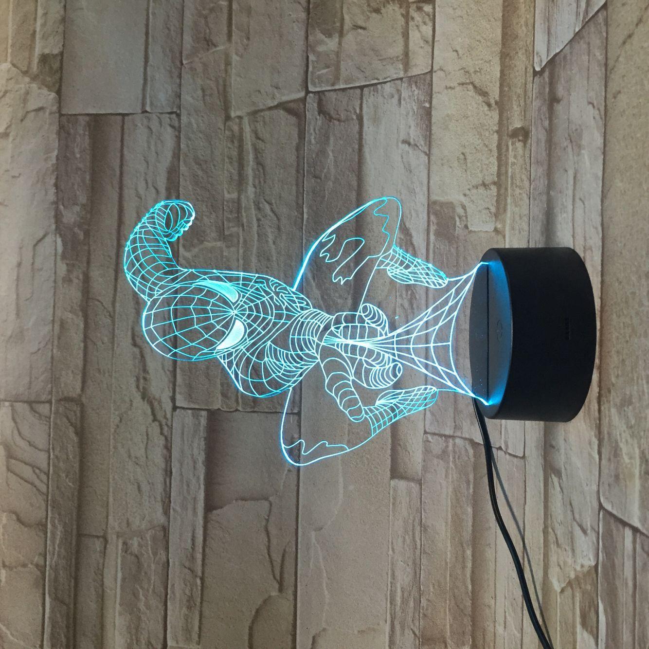 3d Lamp Spiderman 3d Illusion Lamp 3d Illusions Creative Lamps
