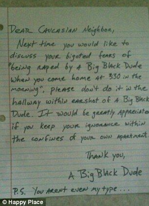 hilarious anonymous notes left on annoying neighbours' doors