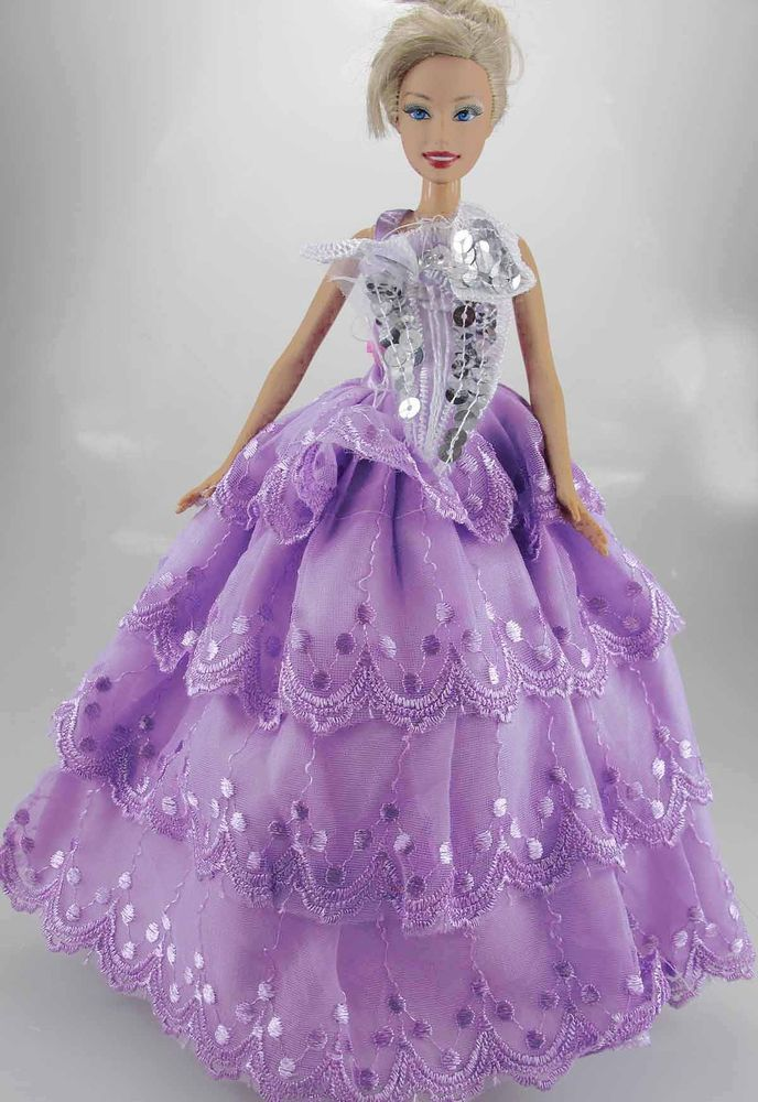 New Handmade Wedding Dress Clothes Gowns Outfit For Barbie Doll #811 ...