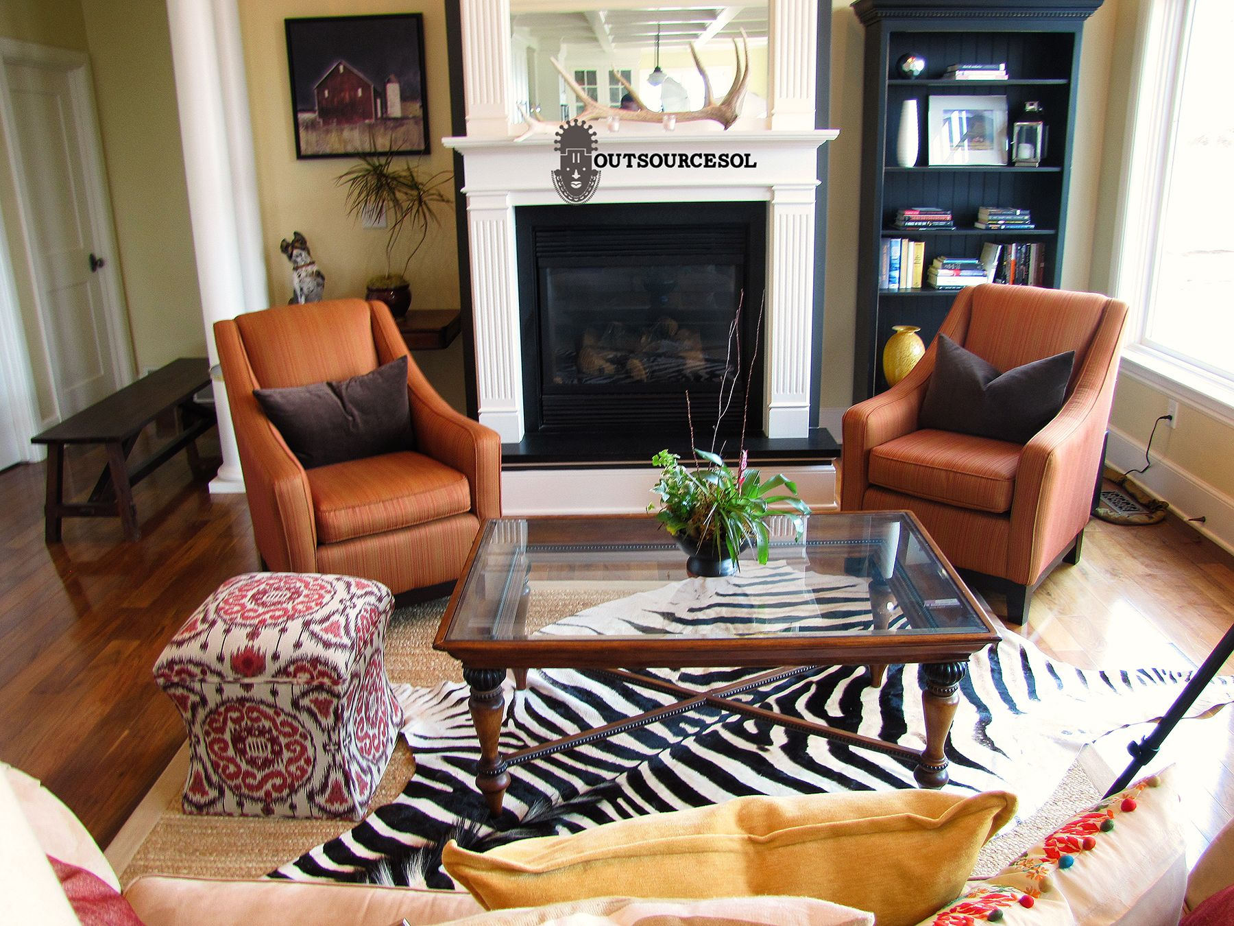 Authentic African Zebra Skin Rug $1650