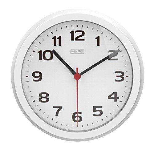 Lamiko Noiseless Indooroutdoor Decorative Wall Clock Universal Nonticking Silent 10inch Wall Clock White You Can Get Addit Clock Wall Decor Wall Clock Clock