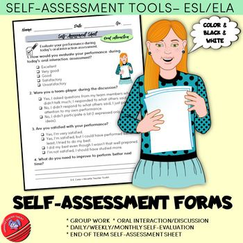 Self-evaluation Forms/Self-assessment Sheets ESL/ELA #eslelajune18