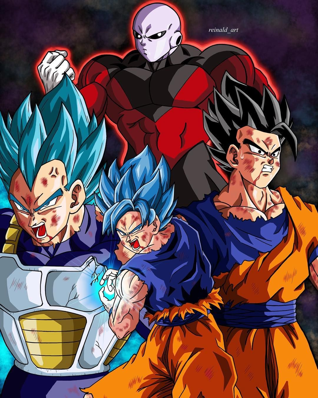 Goku, Vegeta, and Gohan vs Jiren the Grey | dragon ball ...