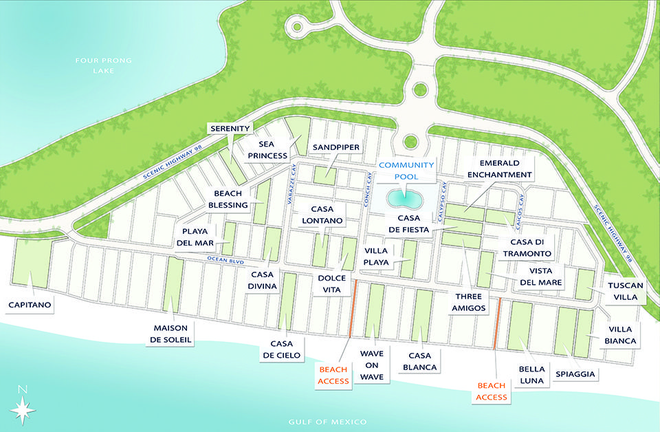 Destin Fl Map on
