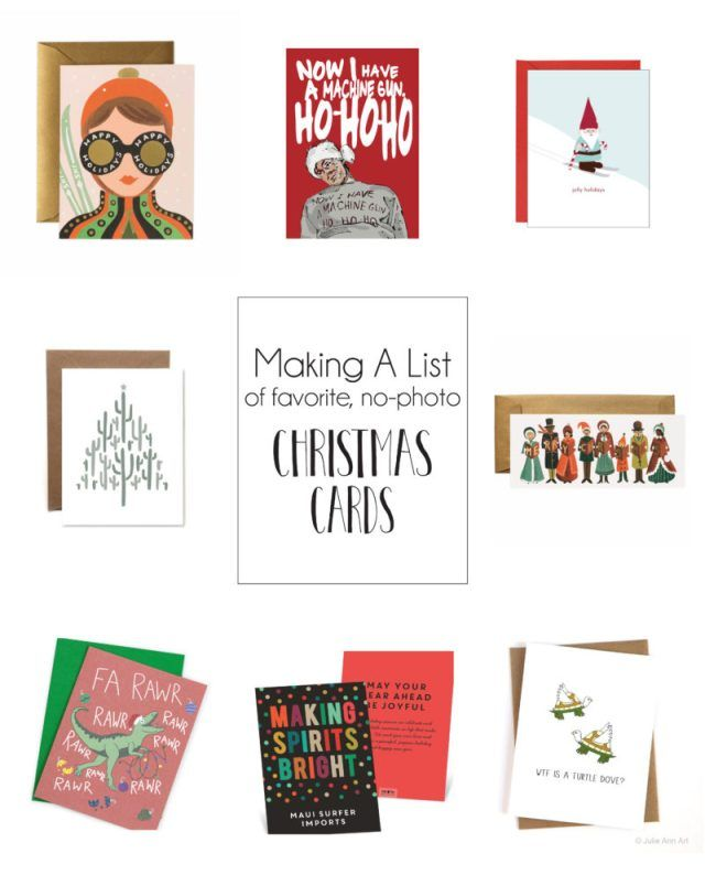 The Best No Photo Christmas Cards