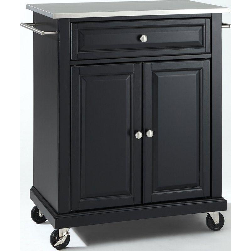 Crosley Furniture KF30022EBK Stainless Steel Top Portable Kitchen ...