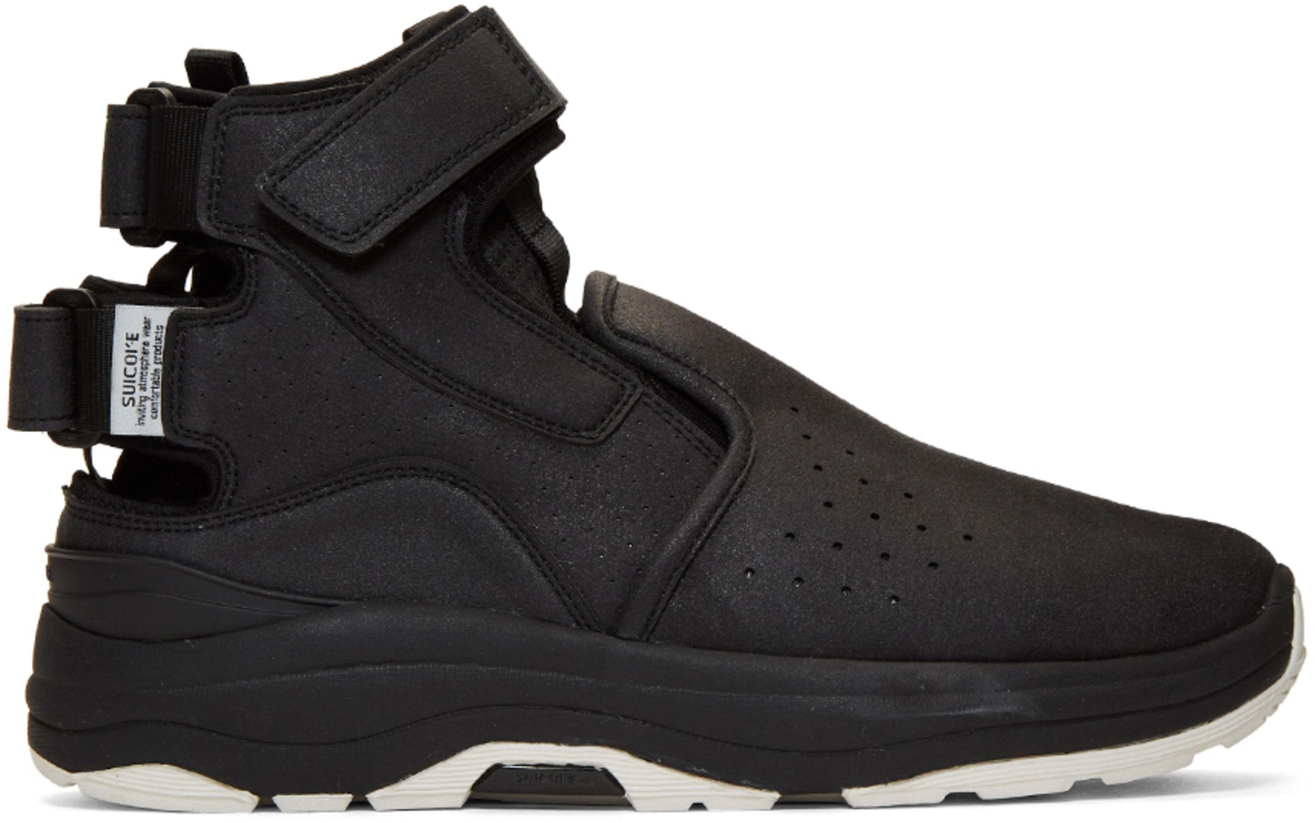 new product a0e13 ed657 Suicoke  Black VIC High-Top Sneakers   SSENSE