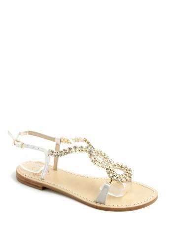 crystal-embellished sandals - Metallic Emanuela Caruso Capri G6Zp5ALet3