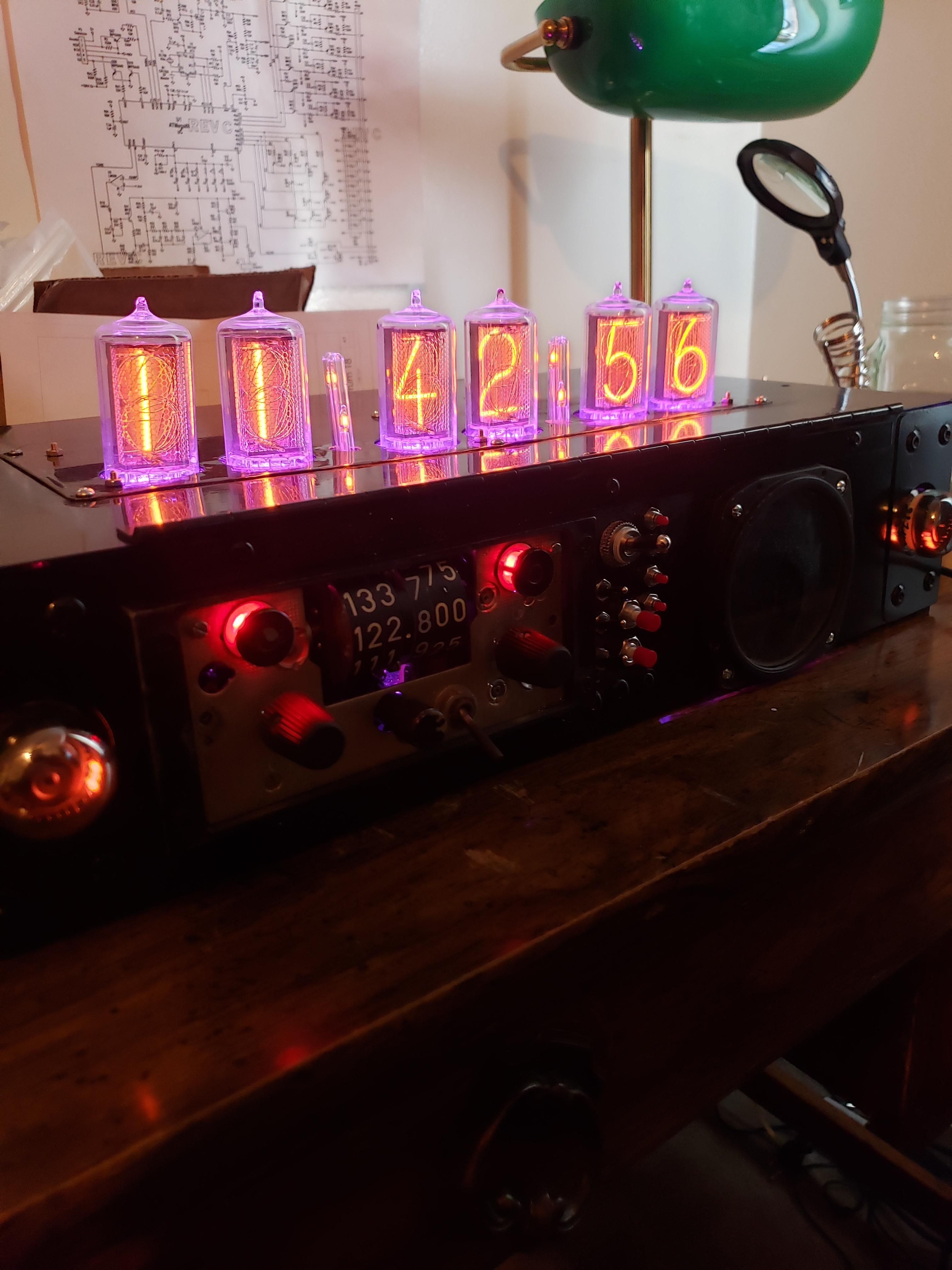 This Nixie Tube Clock Bluetooth Stereo With Dekatron Equalizers I