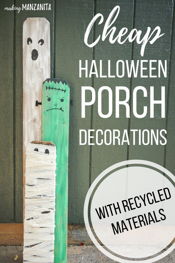 Cheap Halloween Porch Decorations with Recycled Materials - How To Make Halloween Decorations
