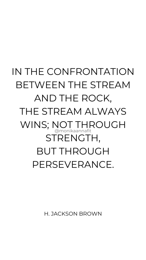 In the confrontation between the stream and the rock, the stream always wins