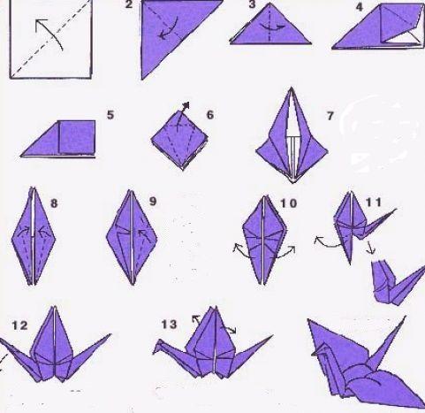 Схема оригами девочки