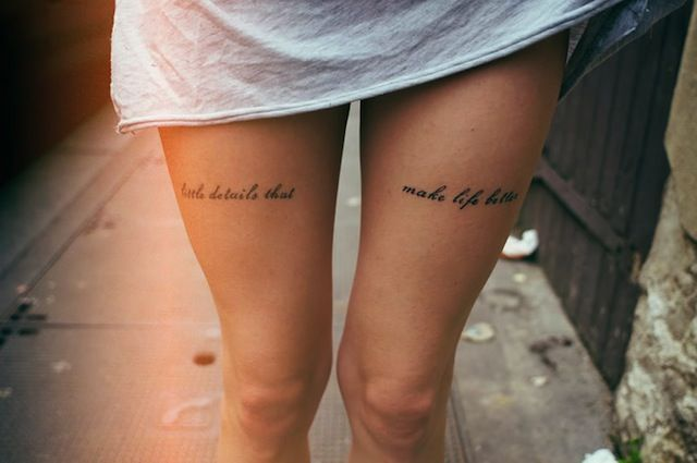 Its The Small Things Pic By Theo Gosselin Tattoo