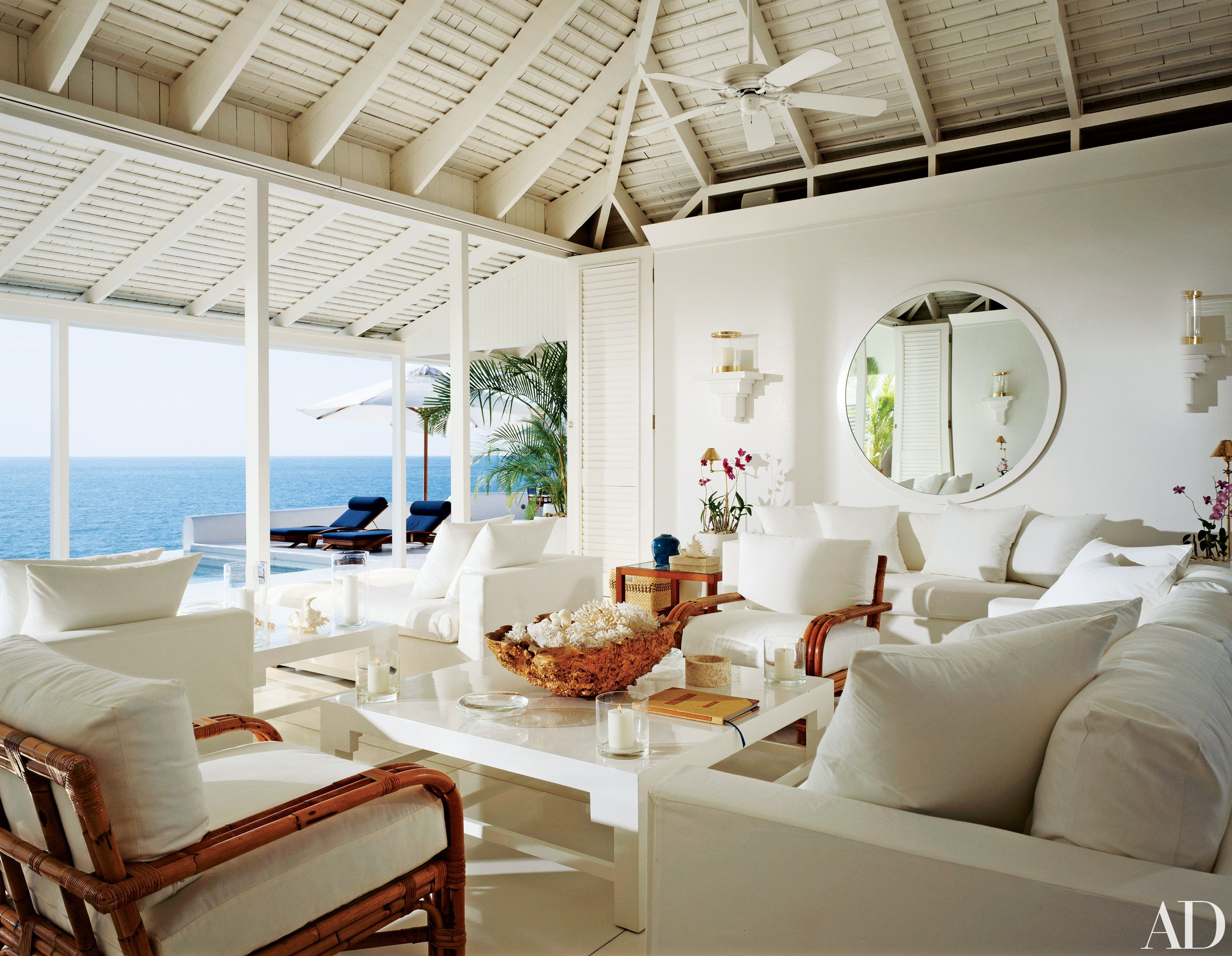 Beach Living Room Design Beauteous Take A Look Inside Ralph Lauren's Twohouse Retreat In Jamaica Design Inspiration