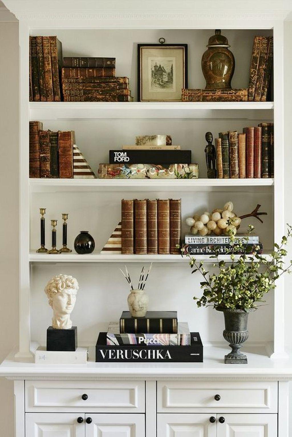 30 Elegant Bookshelves Decor Ideas That Trending Today Shelf Decor Living Room Bookcase Decor Bookshelf Decor