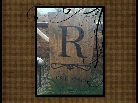 Rustic wood Wedding Gift