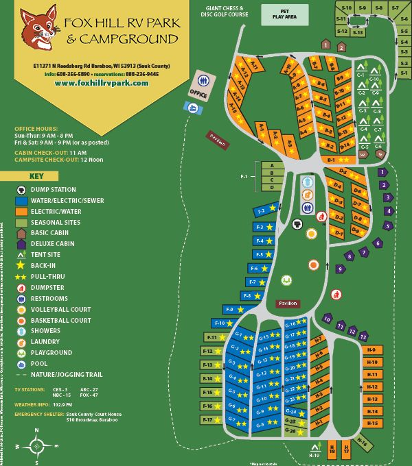 Sitemap Fox Hill Rv Park And Campground Rv Parks Rv Parks And Campgrounds Campground