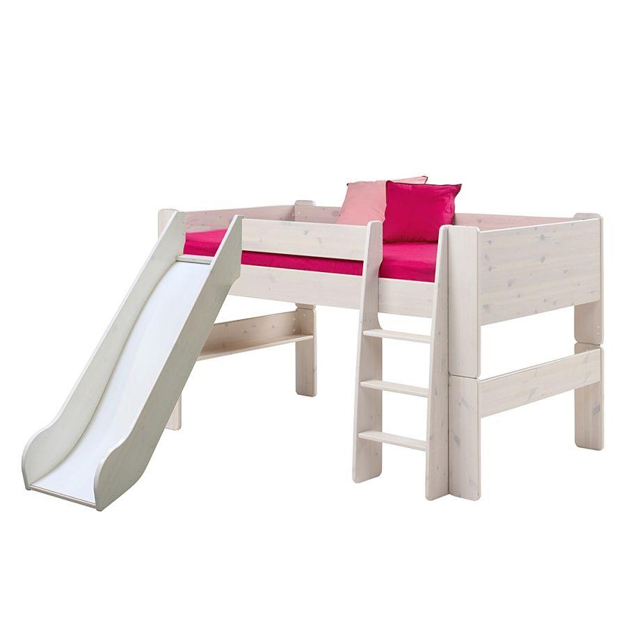 die besten 25 halbhochbett mit rutsche ideen auf pinterest hochbett kinder rutsche spielbett. Black Bedroom Furniture Sets. Home Design Ideas