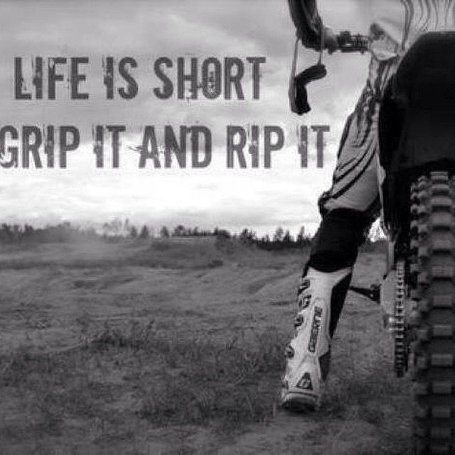 Life Is Short With Images Dirt Bike Quotes Bike Quotes