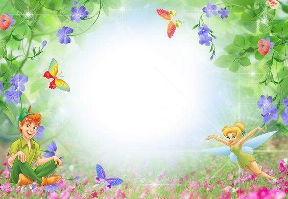 Frame Disney 140 Il Magico Mondo Dei Sogni Birthday Invitation Background Tinkerbell Invitations Tinkerbell Wallpaper