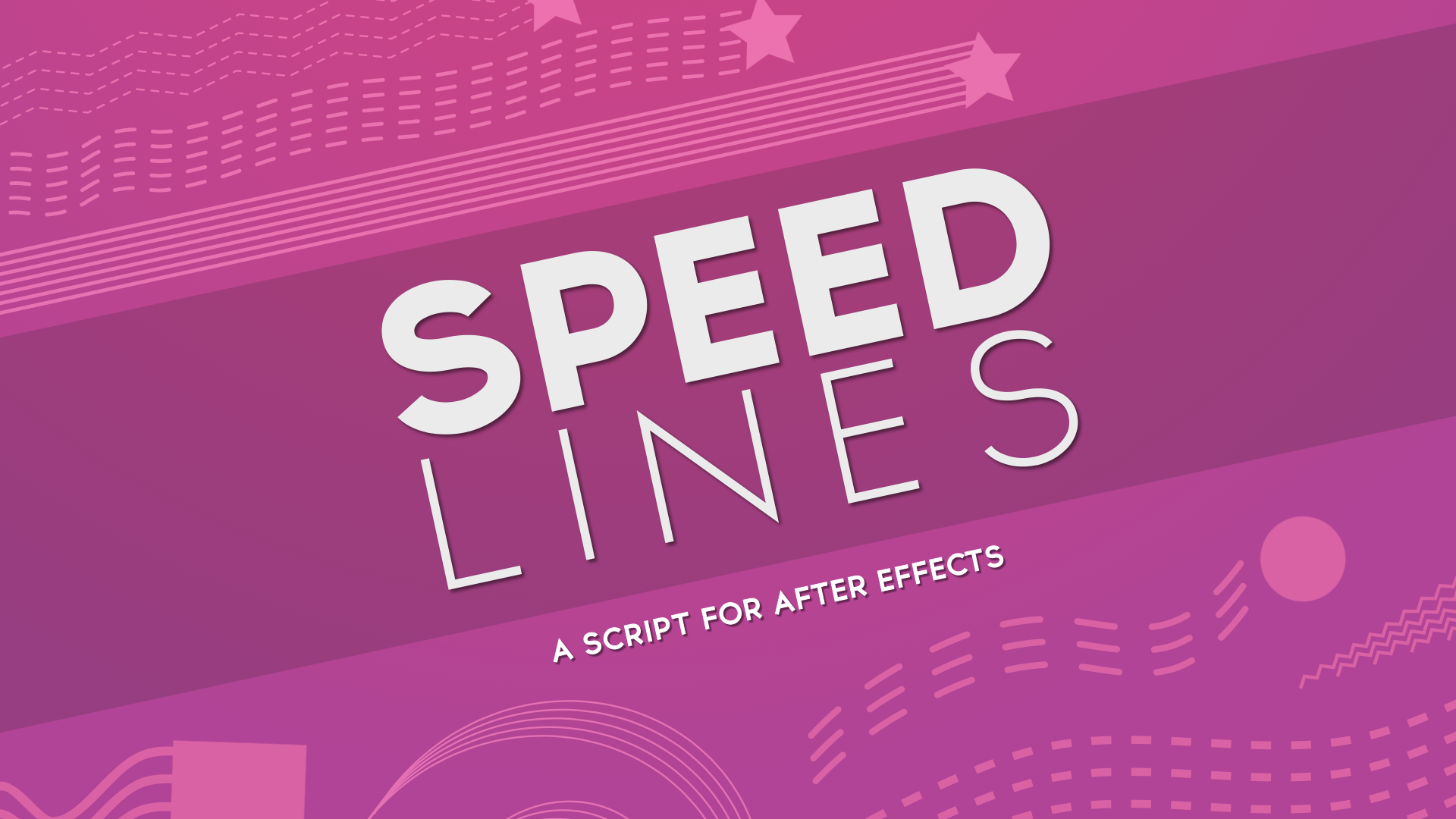 Speed Lines Script For After Effects After Effects Script Speed
