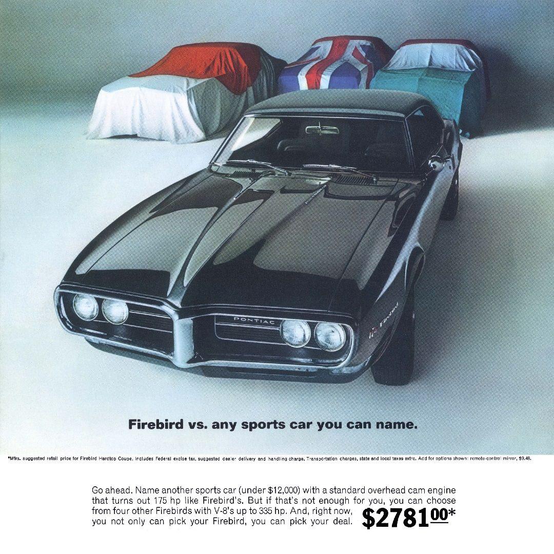 1968 Pontiac Us Them Ad Vintage Muscle Cars Pontiac Cars Old American Cars