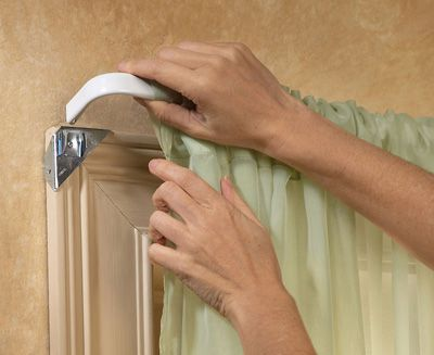 Easy Mount Instant Curtain Rod Holders Curtain Rod Holders