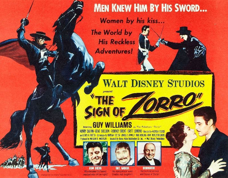 Image result for the sign of zorro 1958