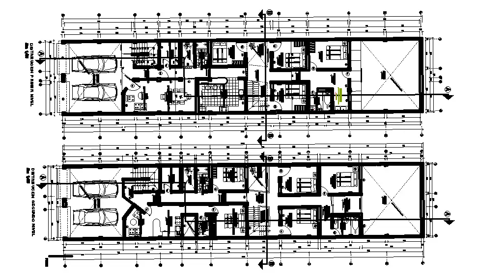 This AutoCAD drawing file derived row house floor plan detail Download this 2d AutoCAD drawing file
