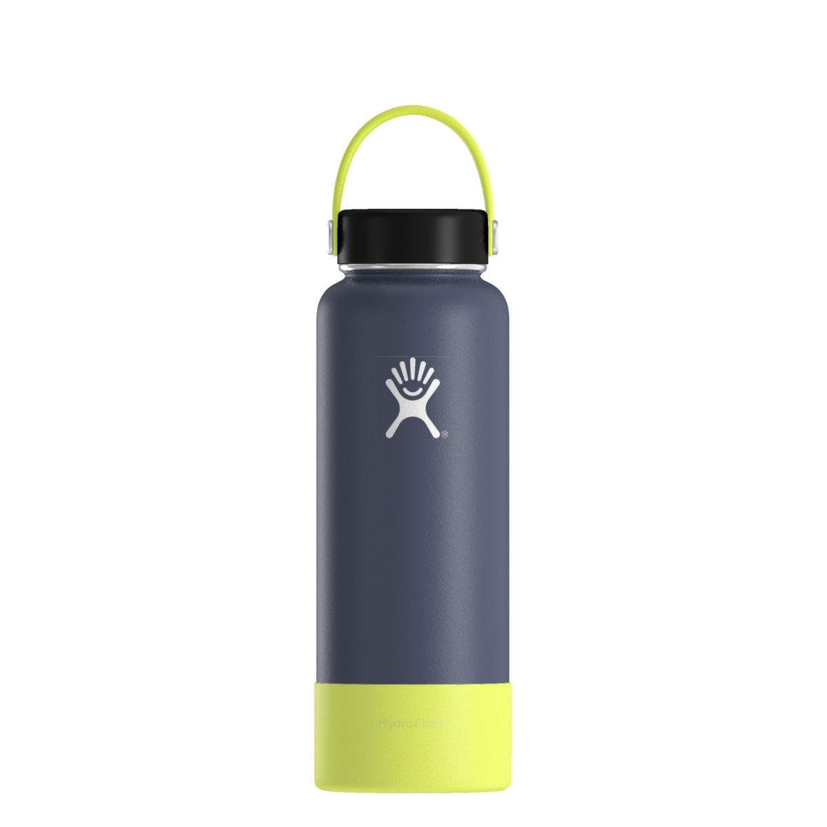 My Hydro By Hydro Flask 40oz Flex Cap Strap Citron Cap Black Bottle Cobalt Boot Citron Hydroflask Custom Hydro Flask Flask