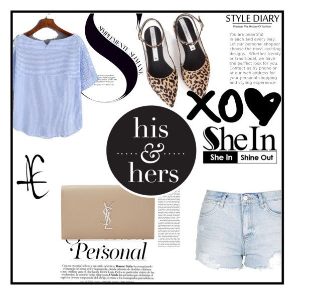 """""""Shein"""" by dusamalena ❤ liked on Polyvore featuring Yves Saint Laurent, Topshop and ZolÃ"""