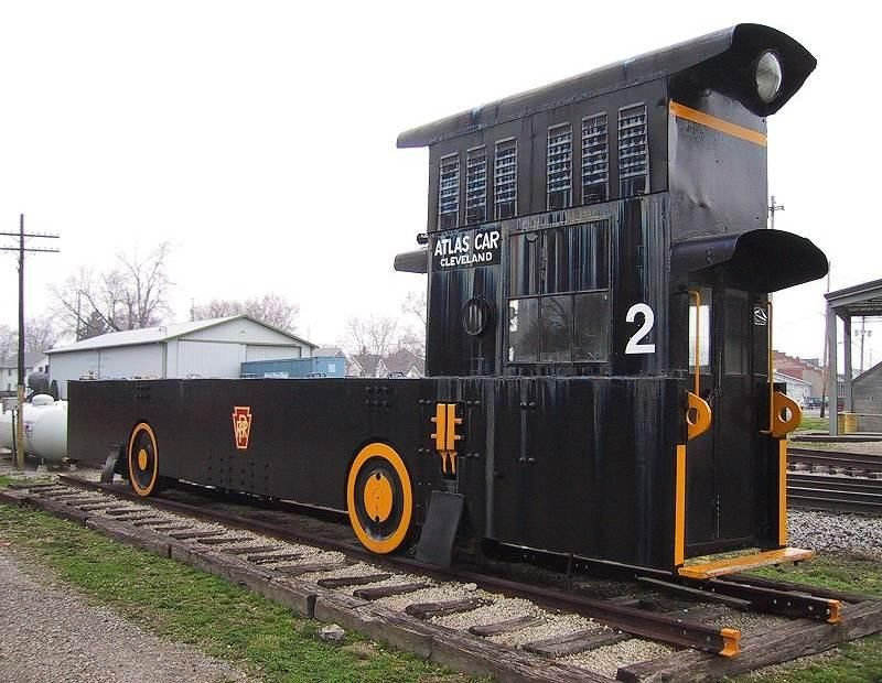 Pennsylvania R.R. #2 locomotive (dockside car pusher) Built 1920. Atlas Car & Manufacturing ...