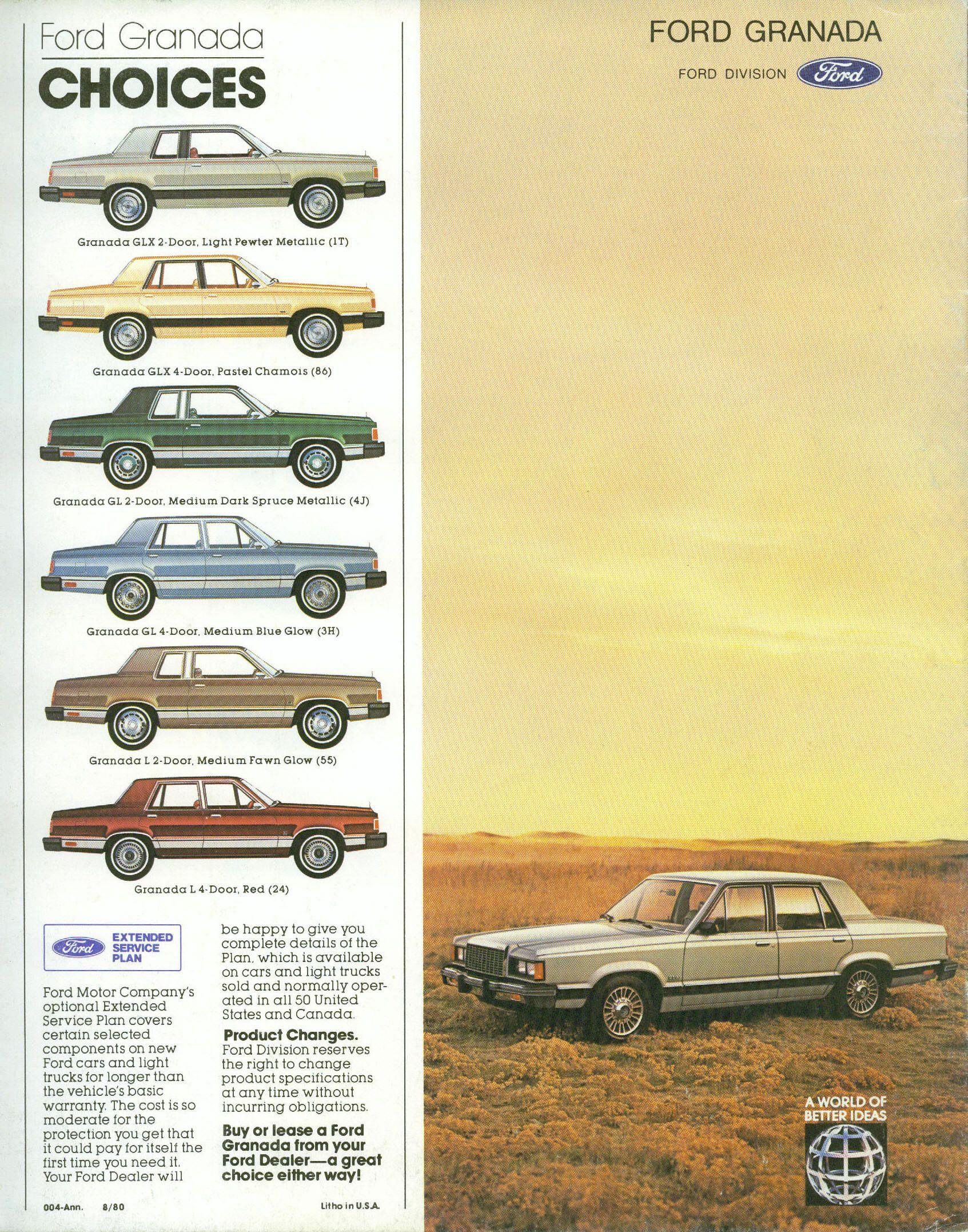 1981 Ford Granada Ford Granada Ford Car Brochure