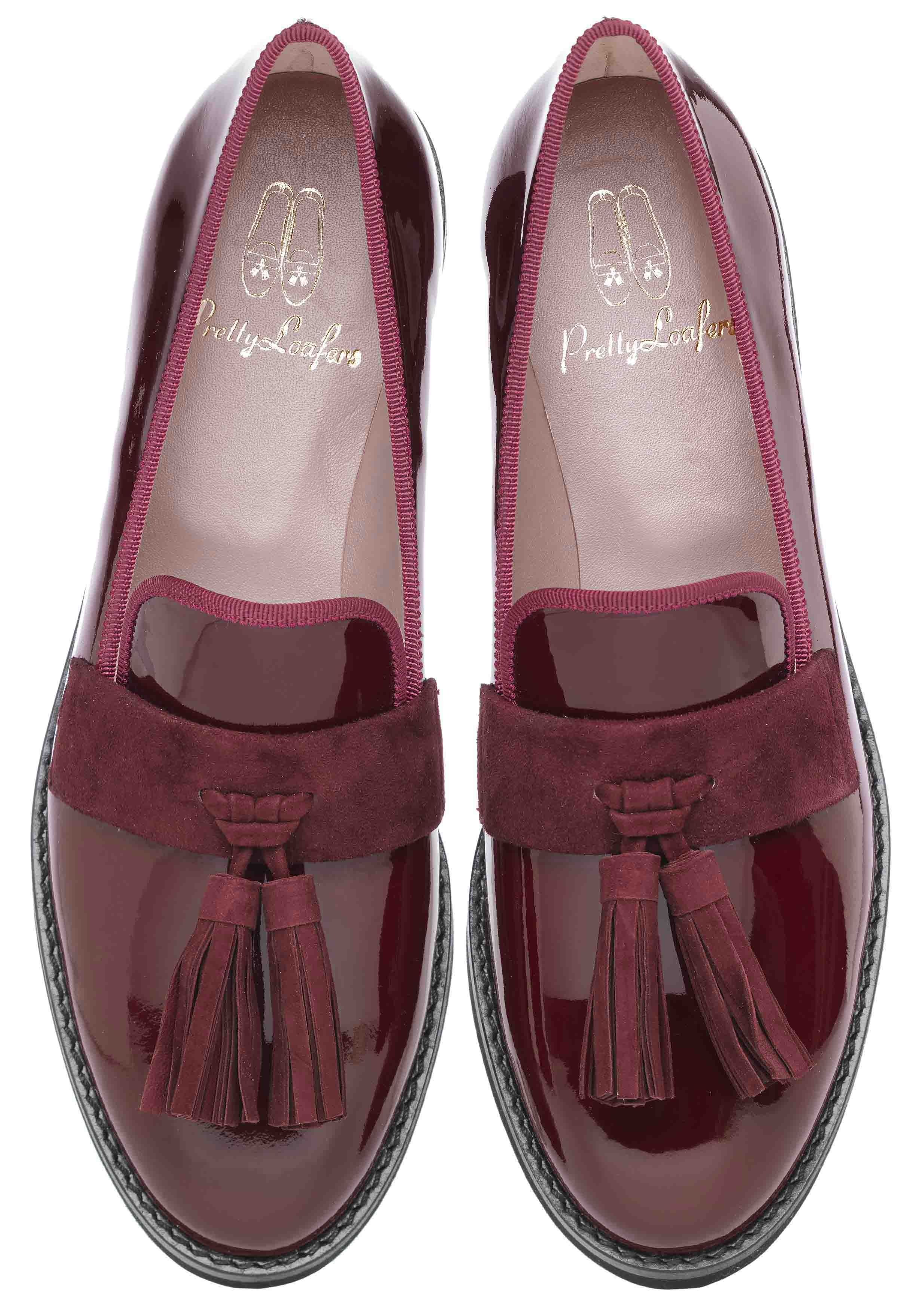 8753c1d9d Pretty Loafers designed by LEAH WELLER. Pretty Loafers   Pretty Ballerinas.  CHARLIZE. Charol rojo oscuro