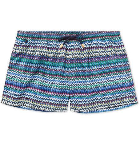 fc209b045a17fd MISSONI Printed Short-Length Swim Shorts. #missoni #cloth #swimwear ...