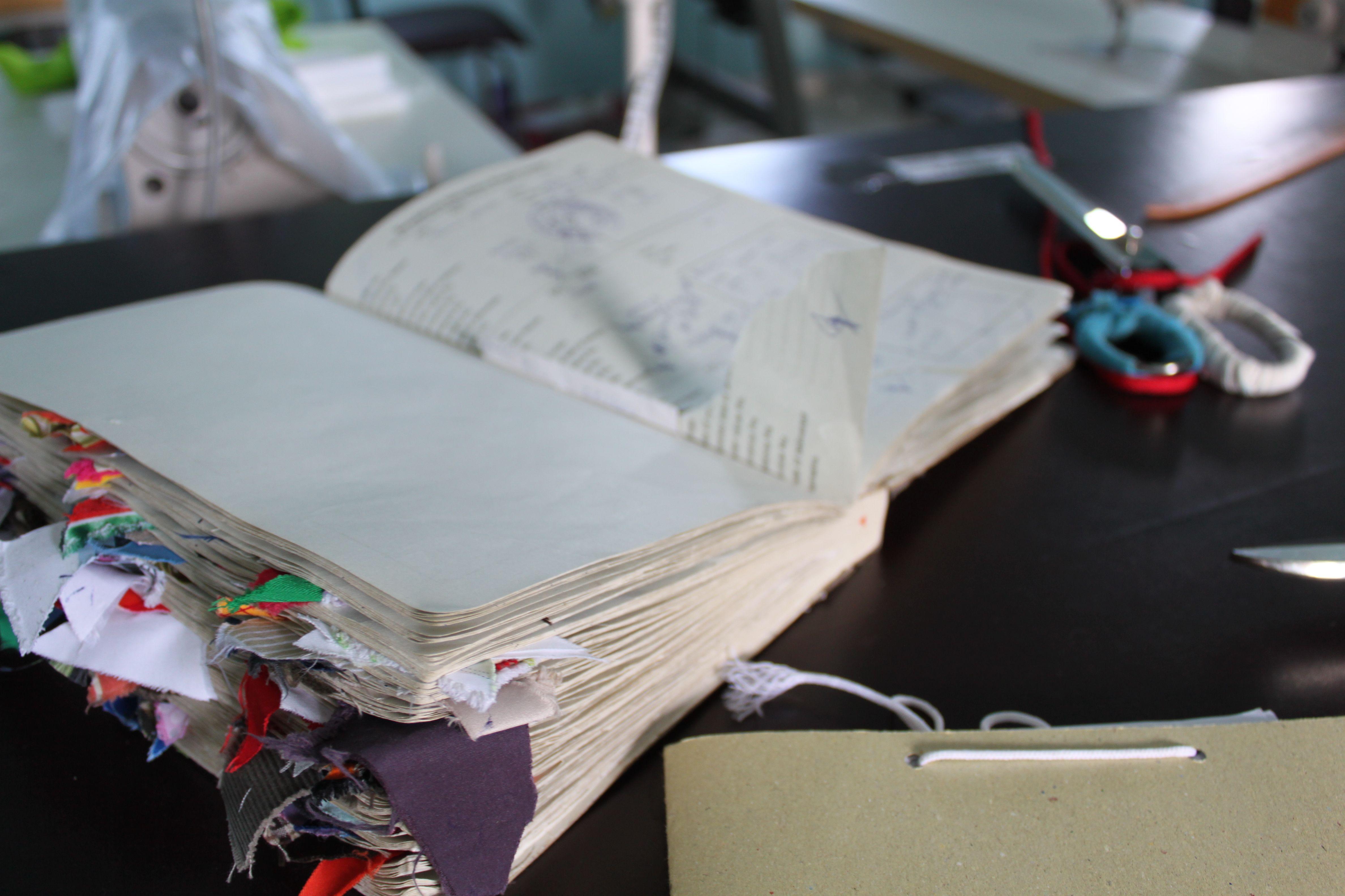 Sketchbook full of ideas and fabrics InspirationBooks DUNSTAN