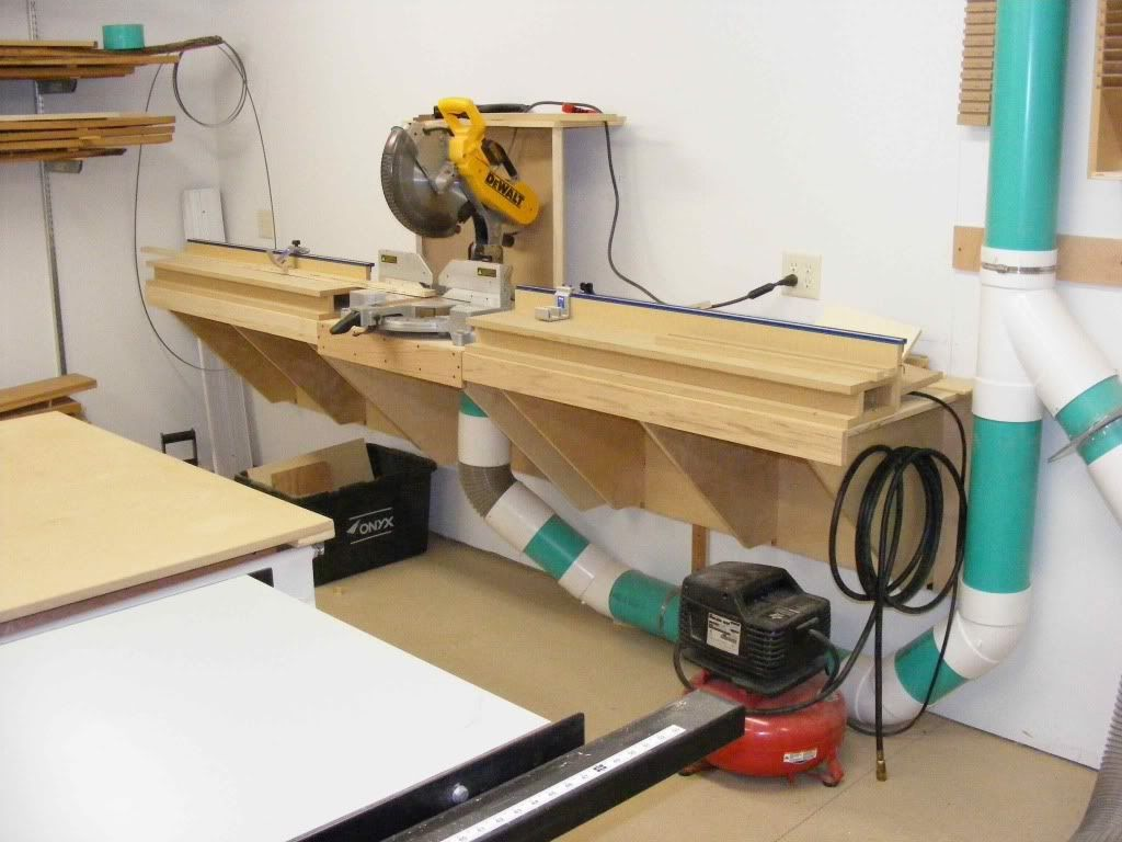 Miter Saw Station Dust Collection Workshop Ideas Pinterest