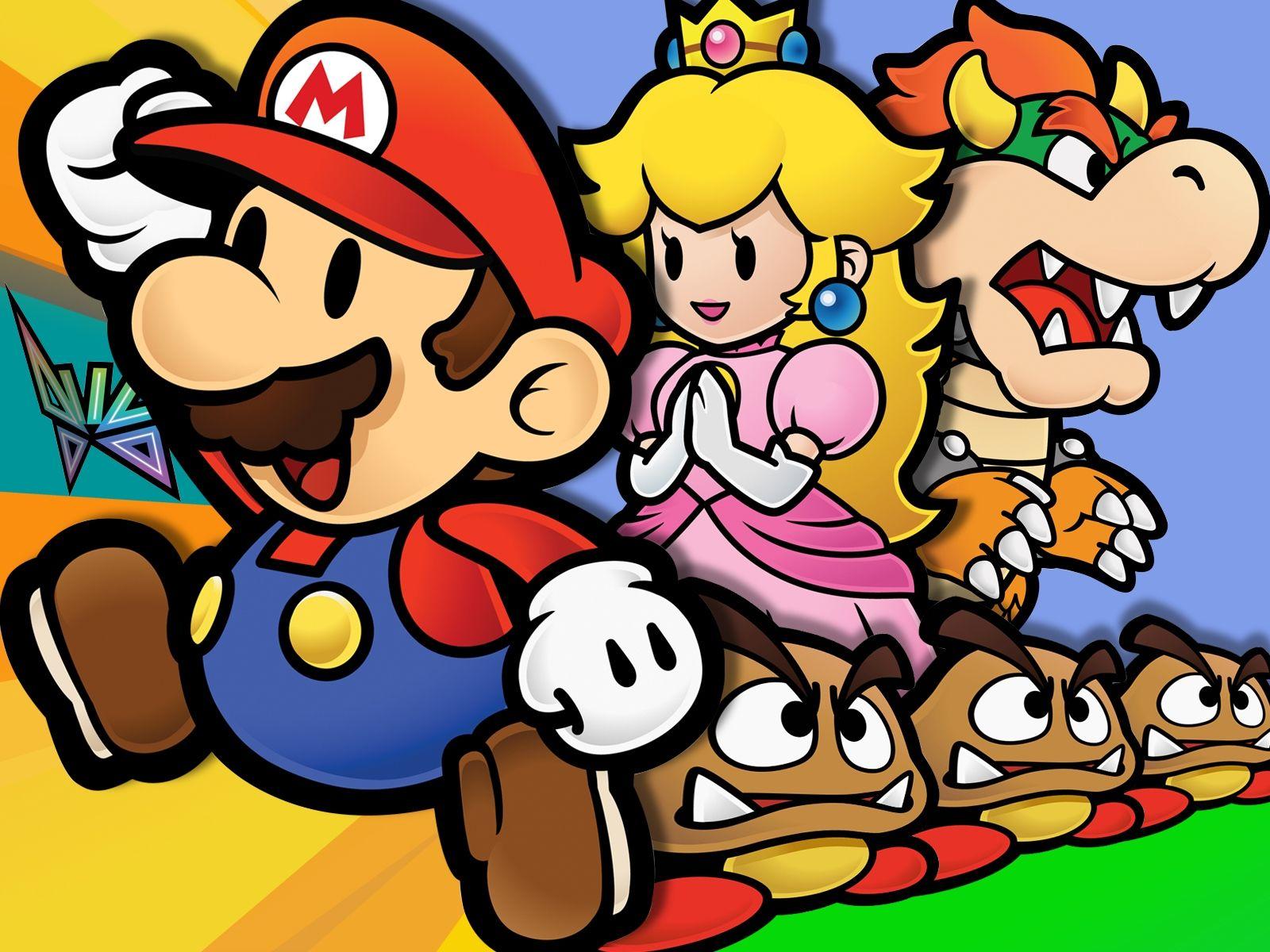 Paper Mario La Puerta Milenaria En Ingles Paper Mario The