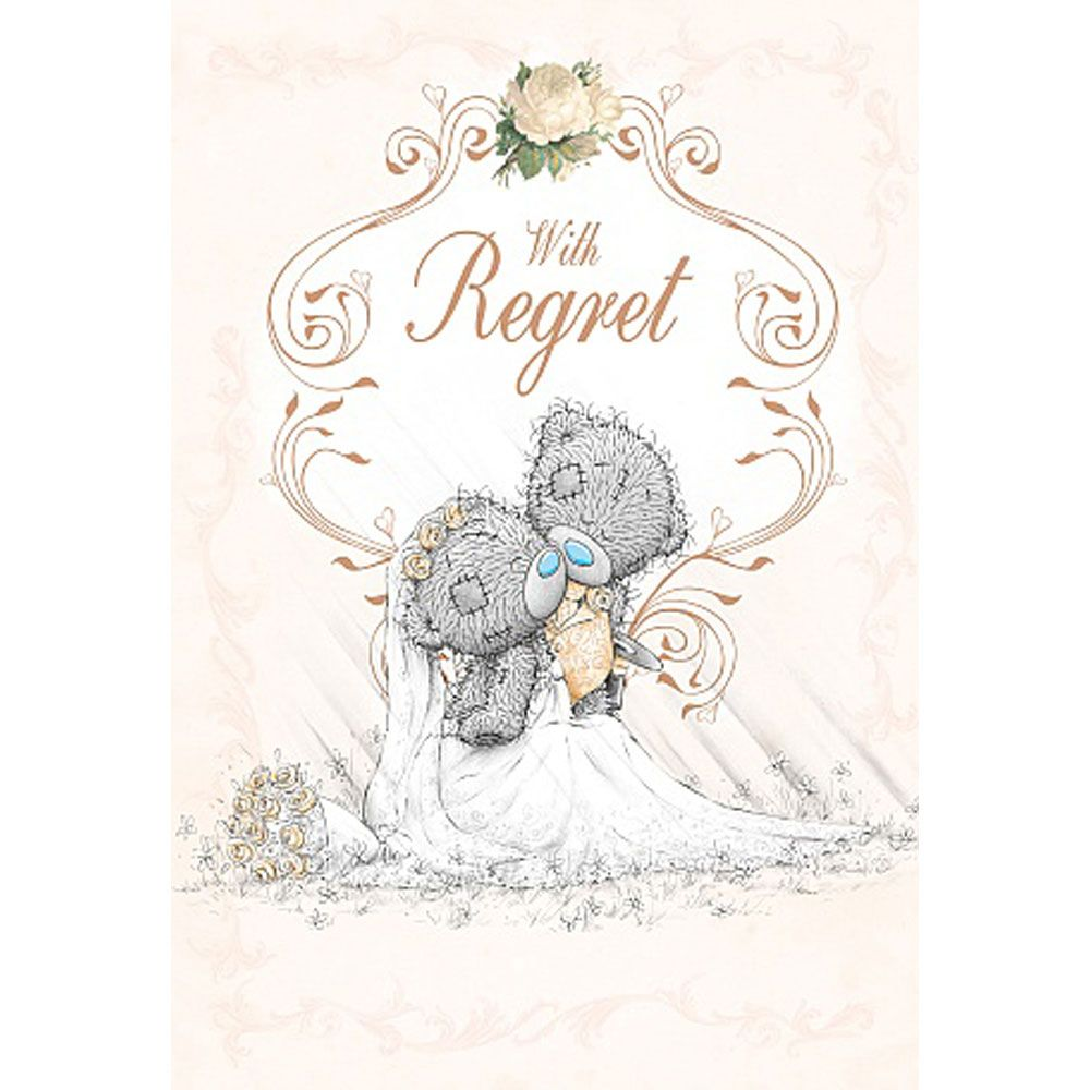 wedding invitation with regret me to you card 1 49 teddy bears