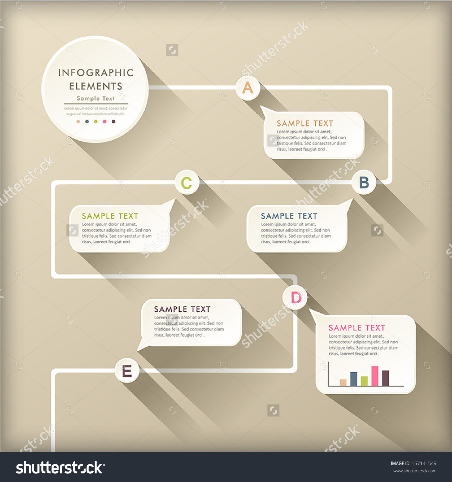 Vector abstract flat design flow chart infographic elements buy this stock on shutterstock  find other images also best flowcharts pinterest flowchart info graphics rh
