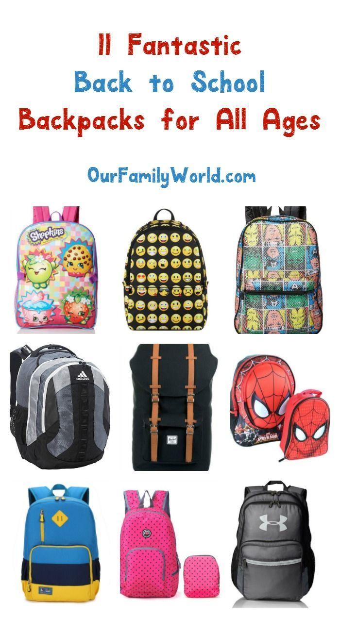 4492eb543a04 We found the best back to school backpacks for your kids! Check out our  favorites for both boys and girls of all ages! Did yours make our list