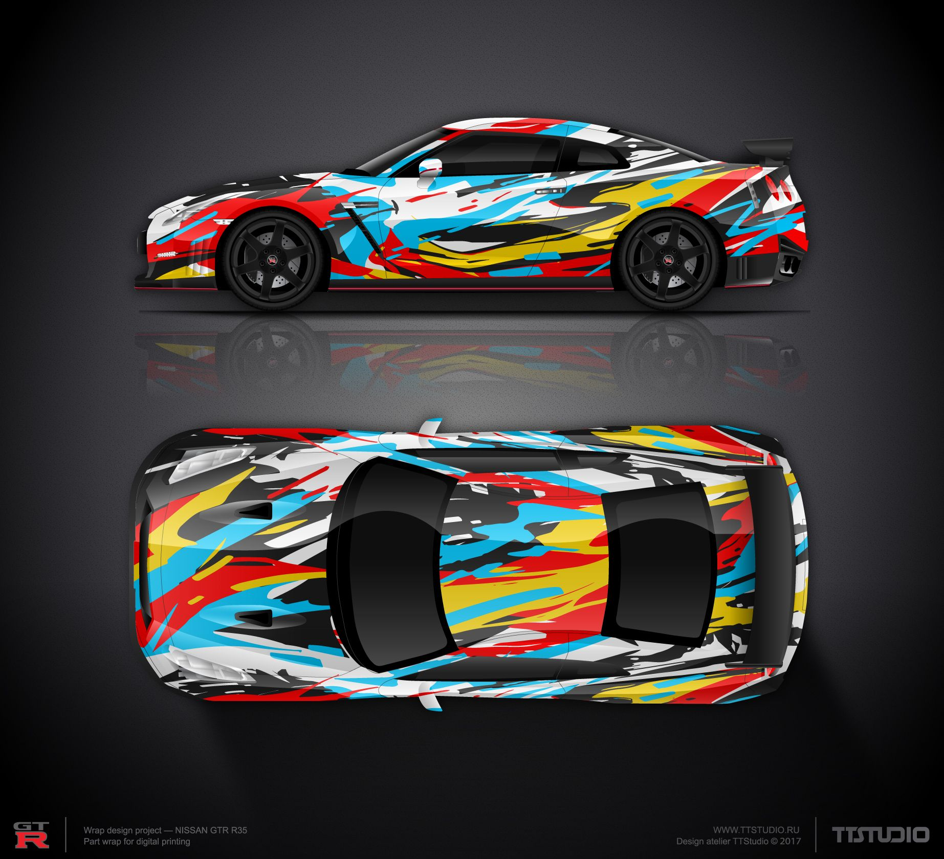 Wrap design concept 9 for nissan gtr